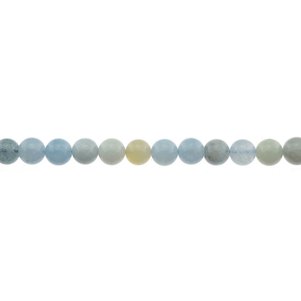 Aquamarine B Round 8mm - Loose Beads