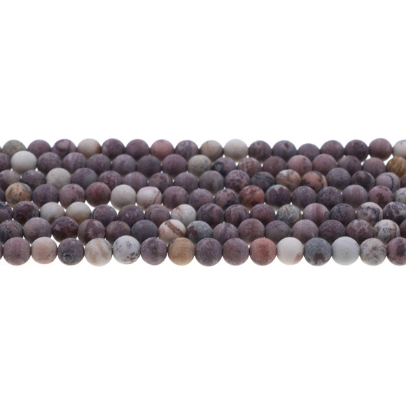 Artistic Jasper Round Frosted 6mm - Loose Beads