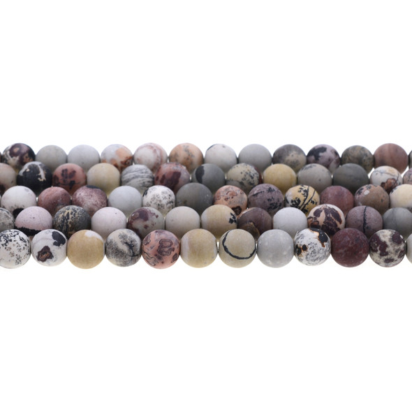 Artistic Jasper Round Frosted 8mm - Loose Beads