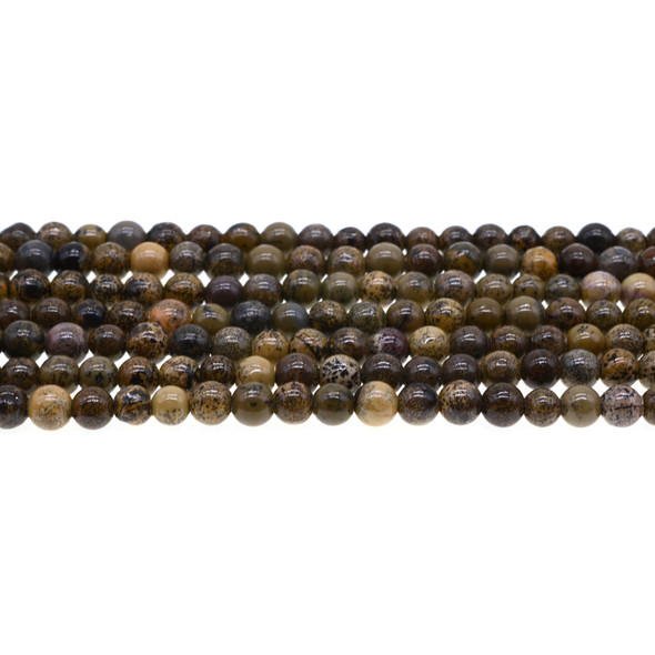 Yellow Artistic Jasper Round 6mm - Loose Beads