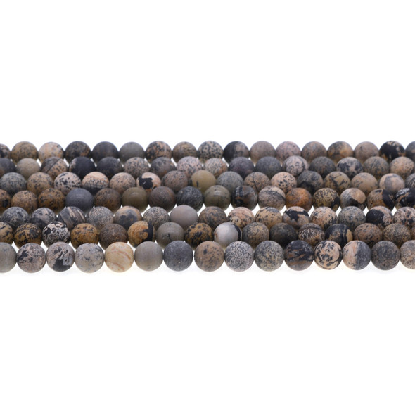 Yellow Artistic Jasper Round Frosted 6mm - Loose Beads