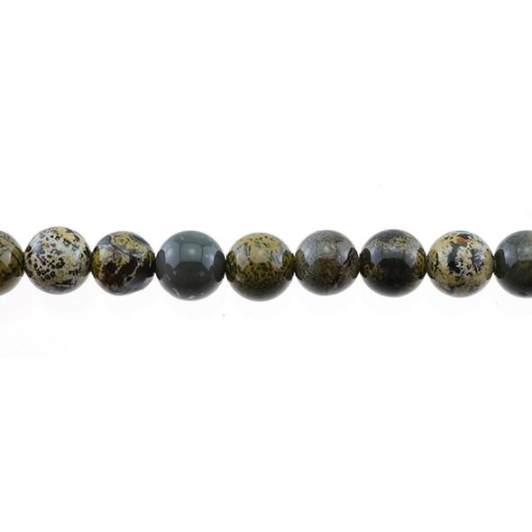Yellow Artistic Jasper Round 10mm - Loose Beads