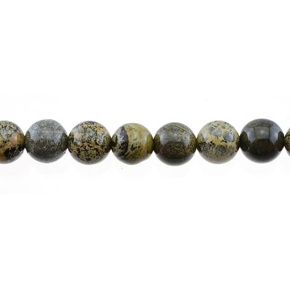 Yellow Artistic Jasper Round 12mm - Loose Beads