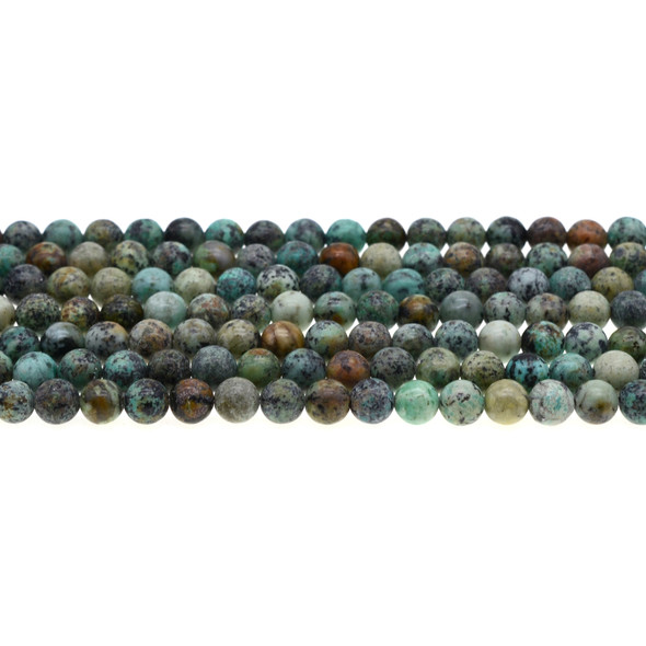 African Turquoise Round 6mm - Loose Beads