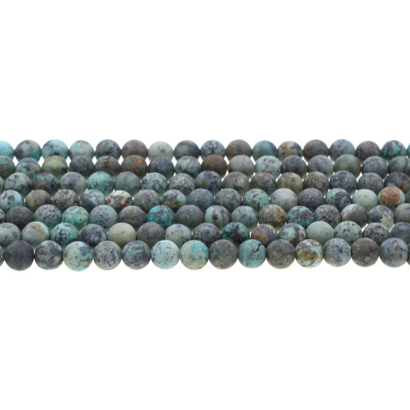 African Turquoise Round Frosted 6mm - Loose Beads