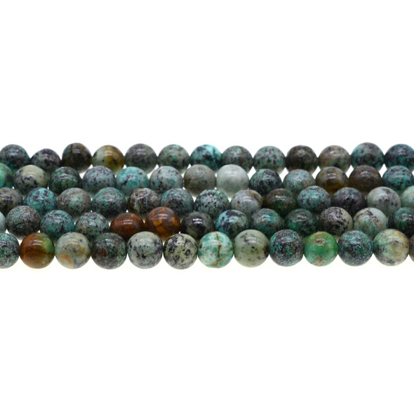 African Turquoise Round 8mm - Loose Beads