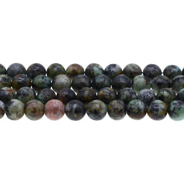 African Turquoise Round 10mm - Loose Beads