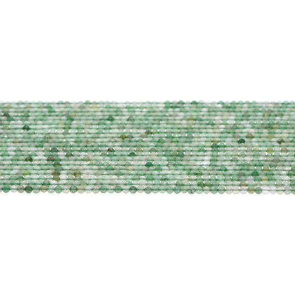 Aventurine Round Faceted Diamond Cut 2mm - Loose Beads