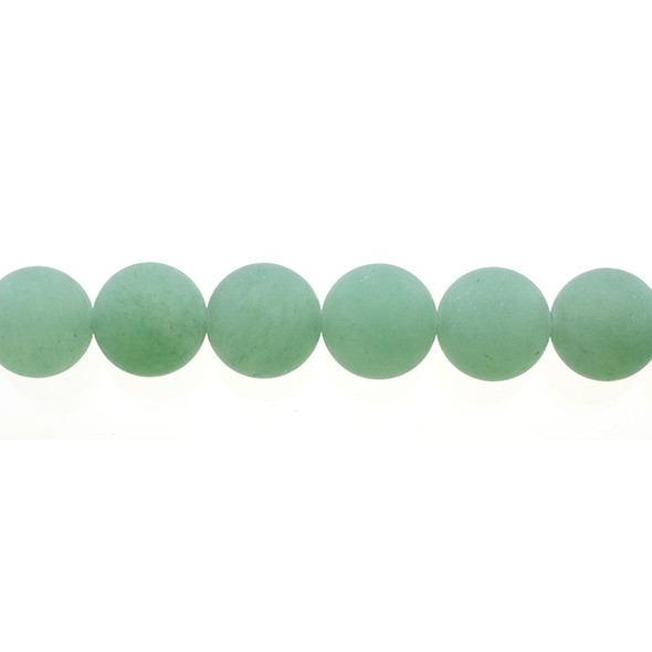 Aventurine Round Frosted 10mm - Loose Beads