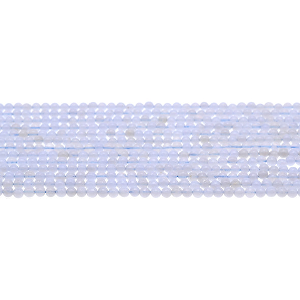 Blue Lace Agate Round 3mm - Loose Beads