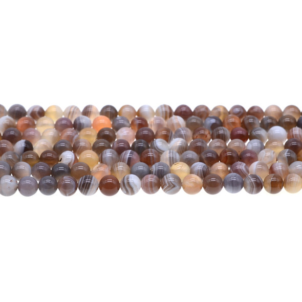 Botswana Agate Round 6mm - Loose Beads