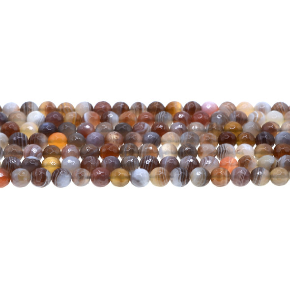 Botswana Agate Round Faceted 6mm - Loose Beads