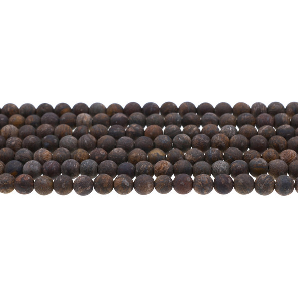 Bronzite Round Frosted 6mm - Loose Beads