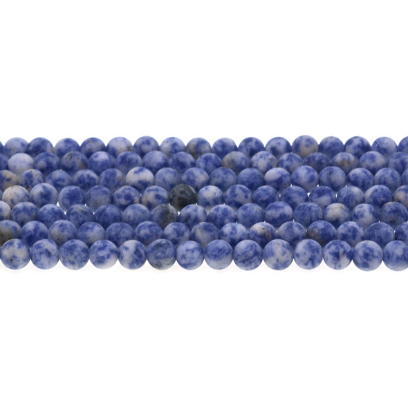 Blue Spot Jasper Round Frosted 6mm - Loose Beads