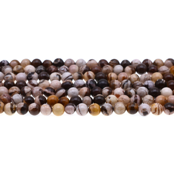 Brown Zebra Jasper Round 6mm -Loose Beads