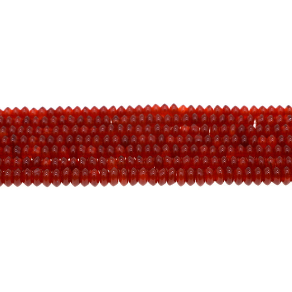 Carnelian Abacus 6mm x 6mm x 3mm - Loose Beads
