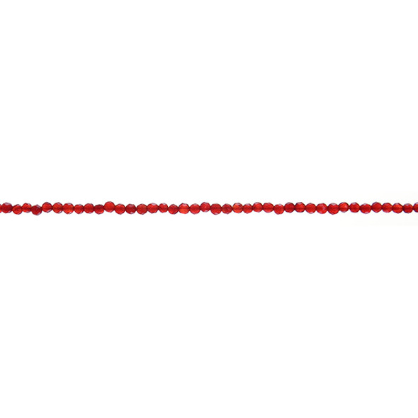 Carnelian - Red Round Faceted 2mm - Loose Beads