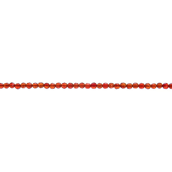 Carnelian - Red Round Faceted 3mm - Loose Beads