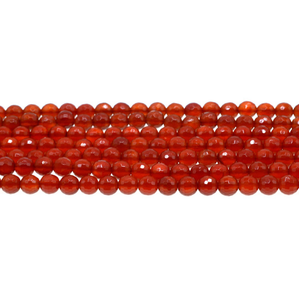 Carnelian - Red Round Faceted 6mm - Loose Beads