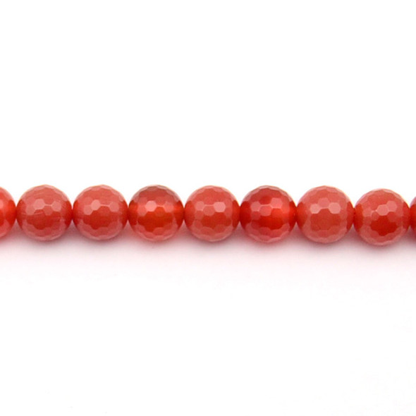 Carnelian - Red Round Faceted 10mm - Loose Beads