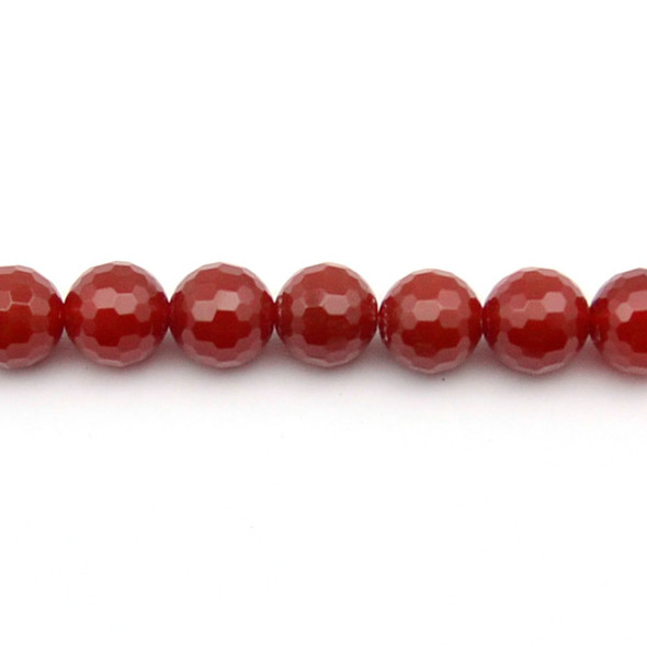 Carnelian - Red Round Faceted 12mm - Loose Beads