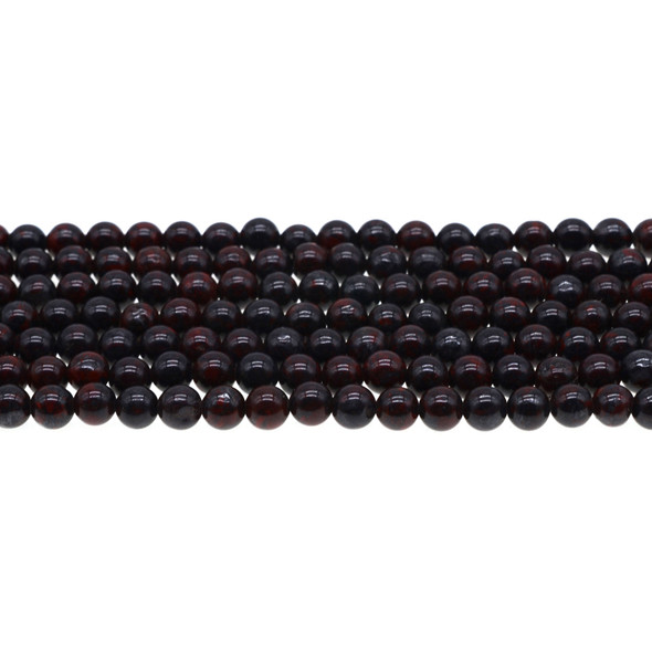 Natural Chinese Bloodstone Round 6mm - Loose Beads