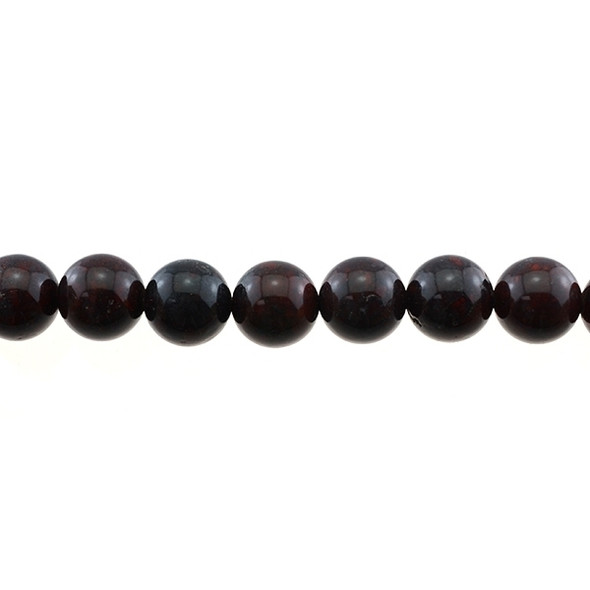 Natural Chinese Bloodstone Round 12mm - Loose Beads