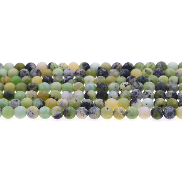 Chrysoprase Australian Jade Round Frosted 6mm - Loose Beads