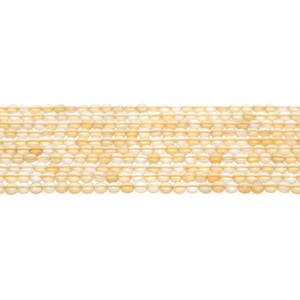 Citrine Coin Puff Faceted Diamond Cut 4mm x 4mm x 2mm - Loose Beads
