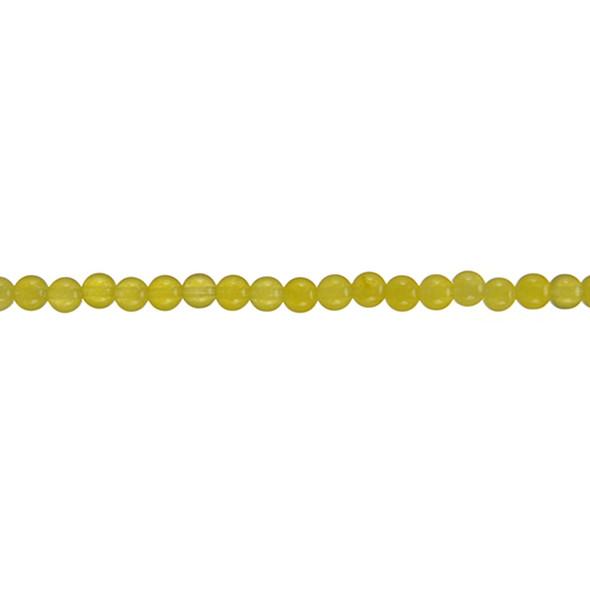 Yellow Jade Round 4mm - Loose Beads