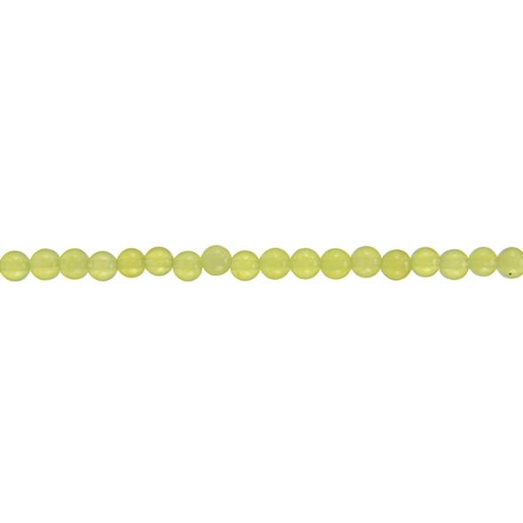 Lite Yellow Jade Round 4mm - Loose Beads
