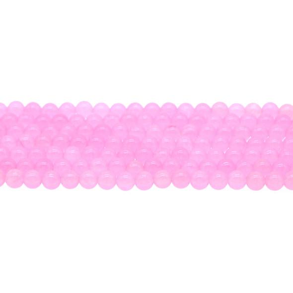 Pink Jade Round 6mm - Loose Beads