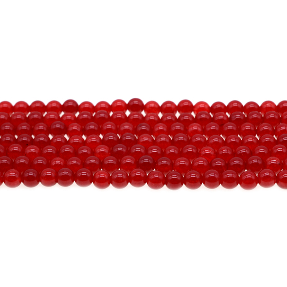Red Jade Round 6mm - Loose Beads