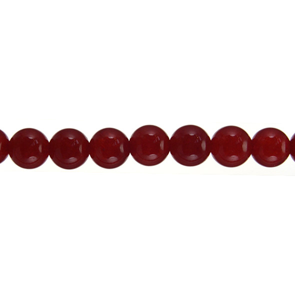 Red Jade Round 10mm - Loose Beads