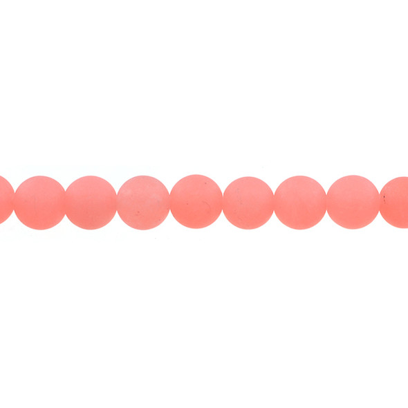 Papaya Jade Round Frosted 10mm - Loose Beads