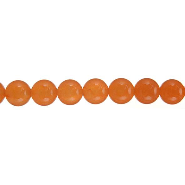 Orange Jade Round 10mm - Loose Beads