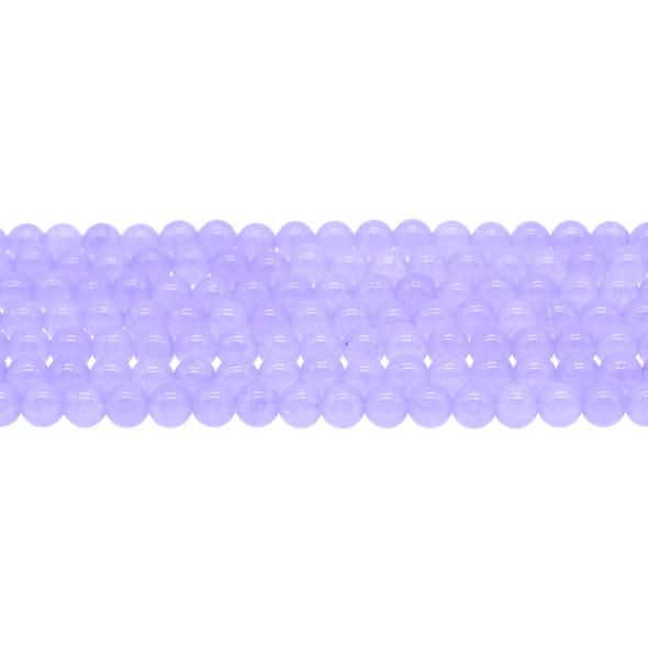 Purple Jade Round 6mm - Loose Beads