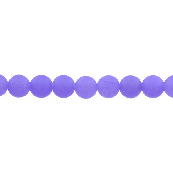 Purple Jade Round Frosted 10mm - Loose Beads