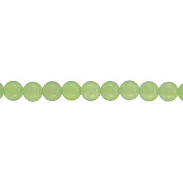 Lite Green Jade Round 8mm - Loose Beads