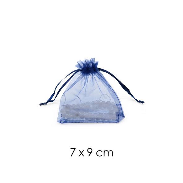 Organza Favor Fabric Bags 7x9cm - 100Pcs/Bundle - Dark Blue