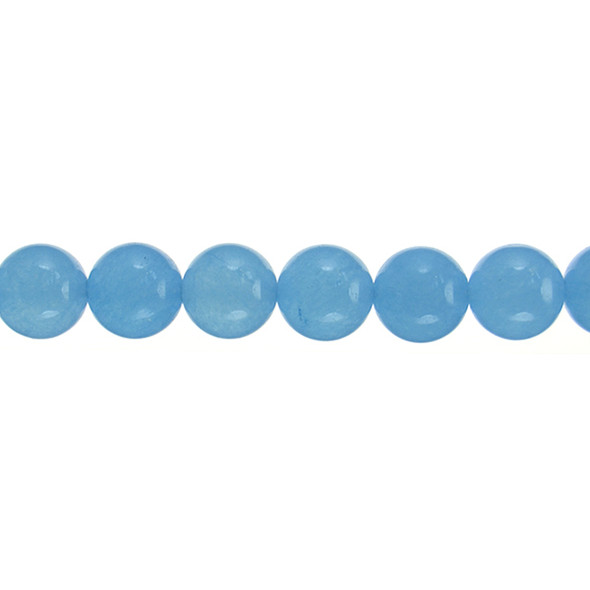 Light Steel Blue Jade Round 12mm - Loose Beads