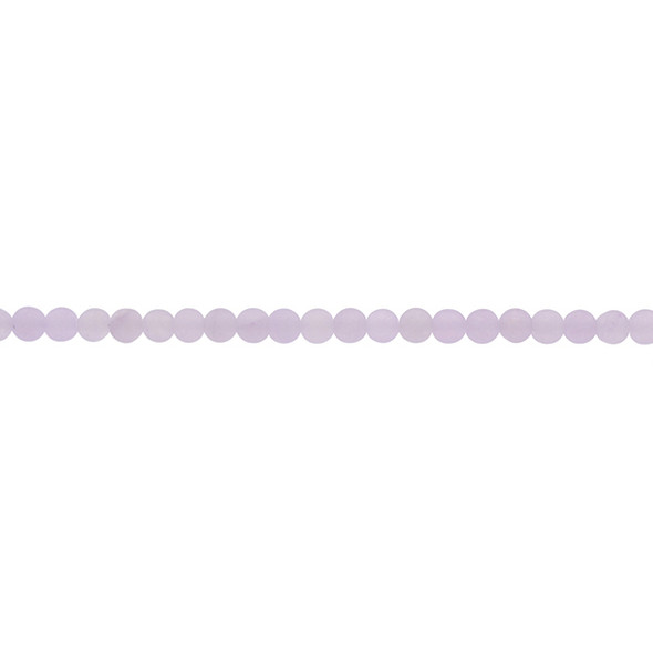 Violet Jade Round Frosted 4mm - Loose Beads