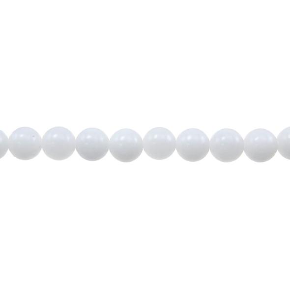 White Jade Round 8mm - Loose Beads