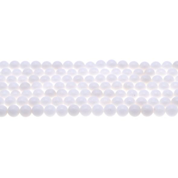 Arctic White Jade Round 6mm - Loose Beads