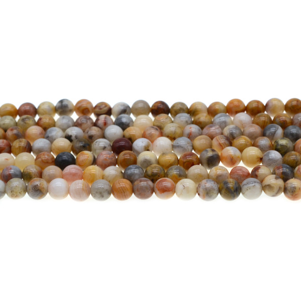 Crazy Lace Agate Round 6mm - Loose Beads