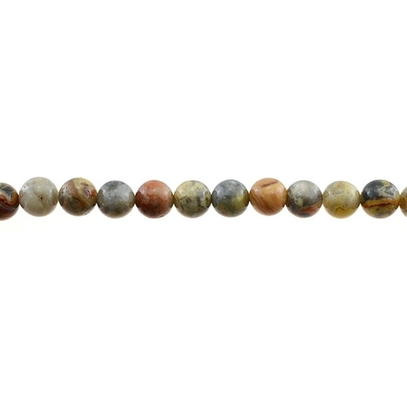 Crazy Lace Agate Round 8mm - Loose Beads