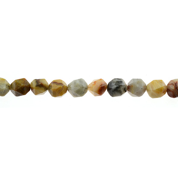 Crazy Lace Agate Round Large Cut 10mm - Loose Beads