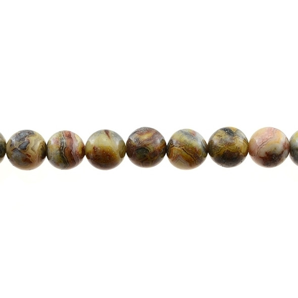 Crazy Lace Agate Round 12mm - Loose Beads