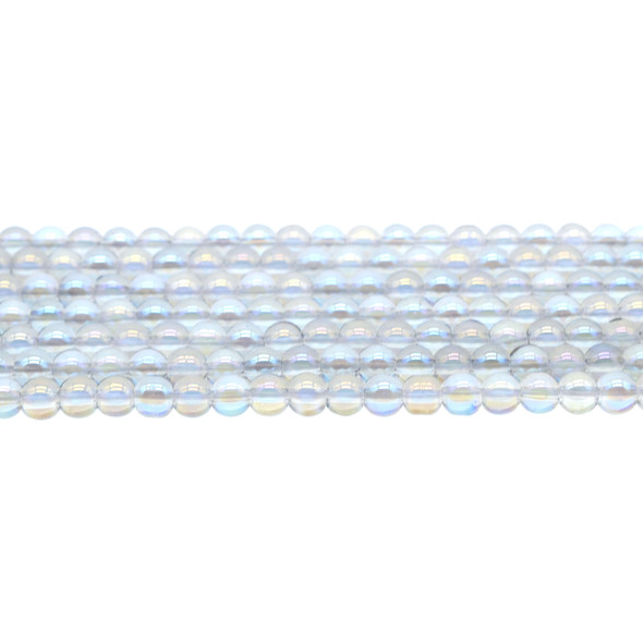 AB Blue Crystal Round 6mm - Loose Beads