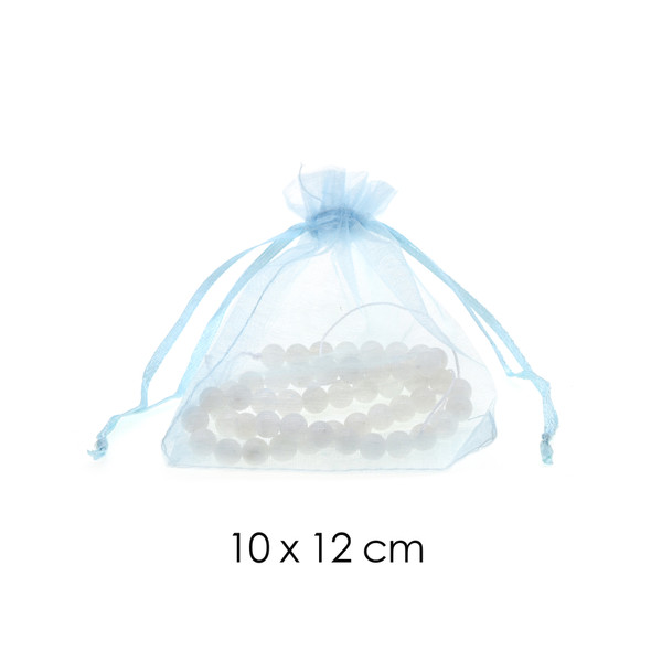 Organza Favor Fabric Bags 10x12cm - 100Pcs/Bundle - Light Blue
